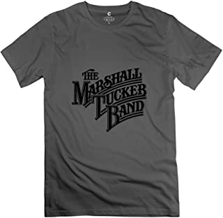 Crystal Men's The Marshall Tucker Band Screw Neck Design T-Shirt DeepHeather US Size XL