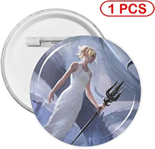 PHOEBE DOHERTY Final Fantasy XV-Luna Anime Fashion Round Badge with PIN Cartoon Decorative Badge Size: S