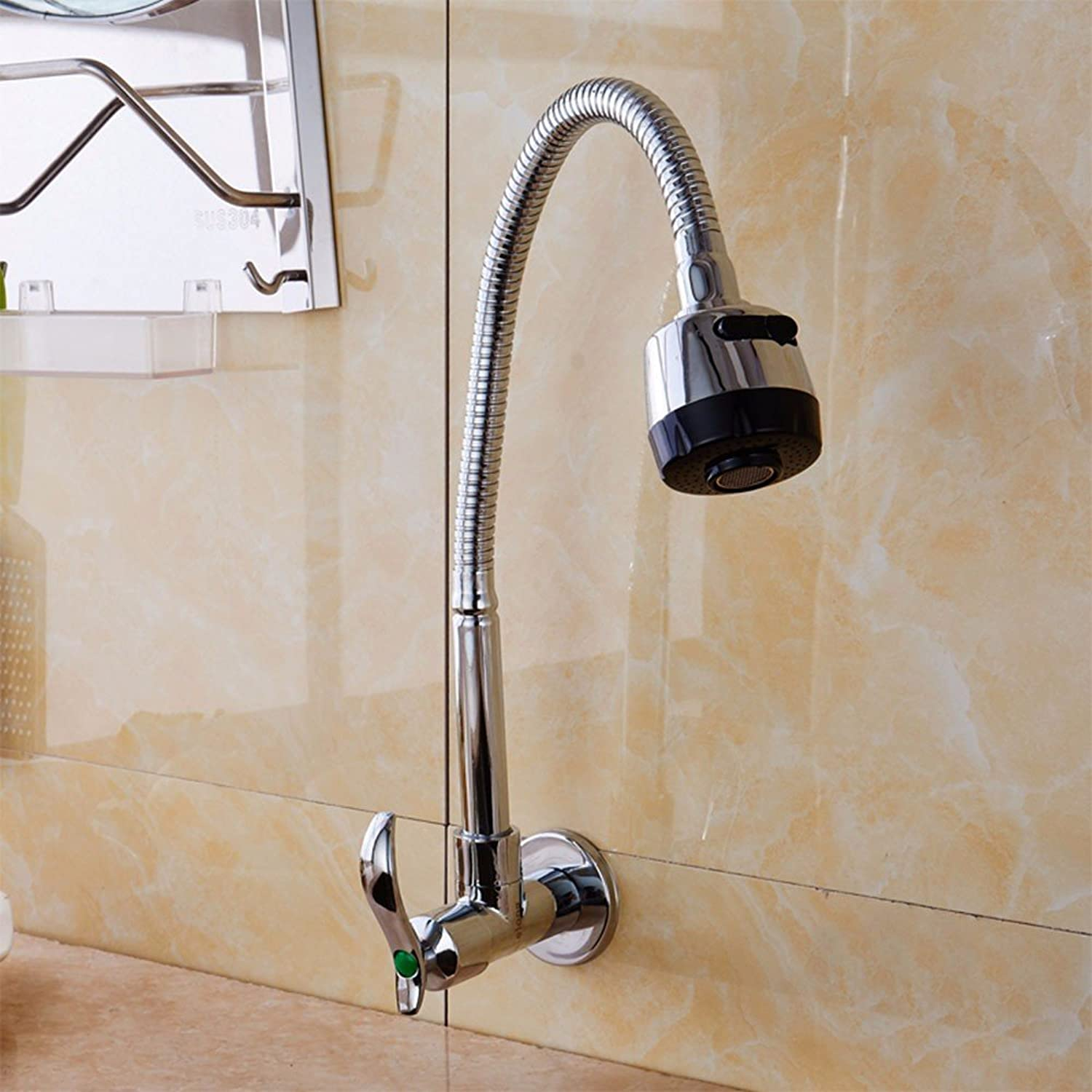 Bijjaladeva Antique Kitchen Sink Mixer Tap Kitchen Faucet Sink into The Wall of The Single Cold Water taps