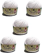 Hilaza Abuelita 100% algodón Bolsa con 5 bolitas de 50 gramos (Blanco)