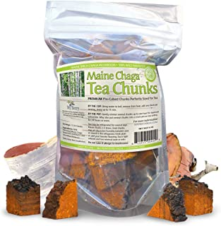 Maine Chaga Mushroom Tea Chunks, 4oz, Wild Harvested, Not sourced From Russia