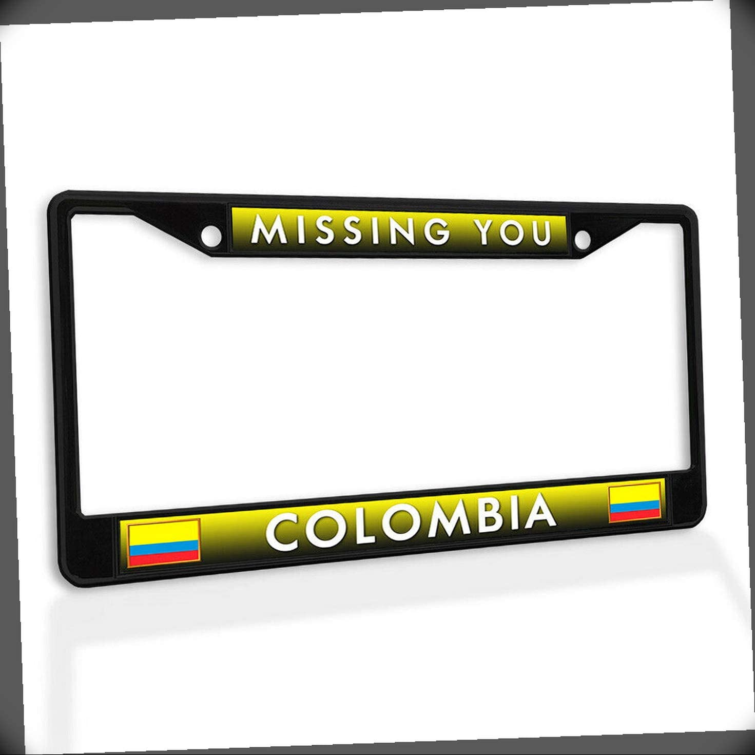 New License Plate Frame Max Limited time sale 67% OFF Missing You Metal Insert Colombia Car Fr
