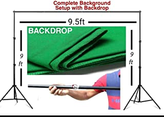 VTS® Photography Stand Set-up Kit with Croma Green Background Support System Portable Foldable with Bag for Photo Video Studio Purpose