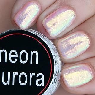 PrettyDiva Mermaid Chrome Nail Powder - Aurora Iridescent Unicorn Nail Powder Neon Nail Pigment Manicure Pigment