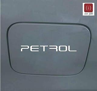 ISEE 360 WV001RCA0158 Decorative Petrol Decal Vinyl Car Sticker (White)