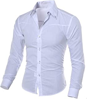 Kword Uomo Shirt Uomini Henley Neck Maglietta Manica Lunga Lino Camicie Uomo Lino Camicia Top Camicetta Business Dress Shirt