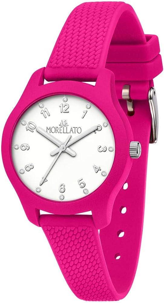 Morellato, orologio da donna,con cassa in policarbonato,e cinturino in silicone R0151163504