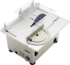 SIRUL Mini Sierra Circular de Mesa, Sierra Circular de Escritorio de Corte portátil de 0-29 mm, con Calibre de inglete, Herramienta de Bricolaje de elevación Ajustable, cortadora de Madera