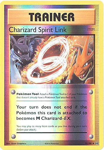 Pokemon - Charizard Spirit Link (75/108) - XY Evolutions - Reverse Holo
