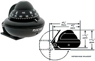 Pocket Ball Dashboard Mount Navigation Compass Car Boat Truck Suction Black  GV