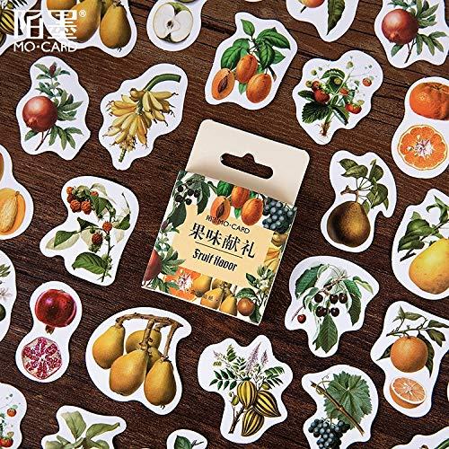 BLOUR 46 unids/Pack Frutas Cosecha Papel Etiqueta Álbum DIY Diario Etiqueta Manual de Decoración Etiqueta Scrapbooking Etiqueta Etiqueta