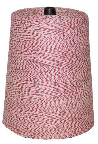 T.w. Evans Cordage 07–041 4 Poly panaché Cône de 0,9 kilogram, 9600-feet, Rouge et blanc