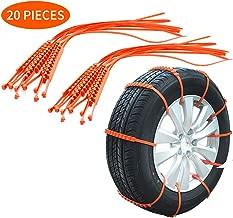 KKmoon 10pcs x 910mm Cadenas de Nieve Antideslizantes para Neumáticos para Coche SUV Camión