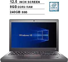 2019 Premium Lenovo Thinkpad X240 12.5 Inch Business Laptop (Intel Dual Core i5-4300U up to 2.9GHz, 8GB DDR3 RAM, 240GB SSD, Intel HD 4400, WiFi, Bluetooth, HDMI, Windows 10 Pro) (Renewed)