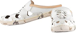 tZaro Genuine Leather White Slipper - Hector LED