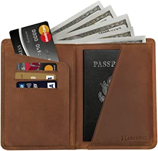 Canvas Paint Texture Leather Passport Holder Cover Case Travel One Pocket