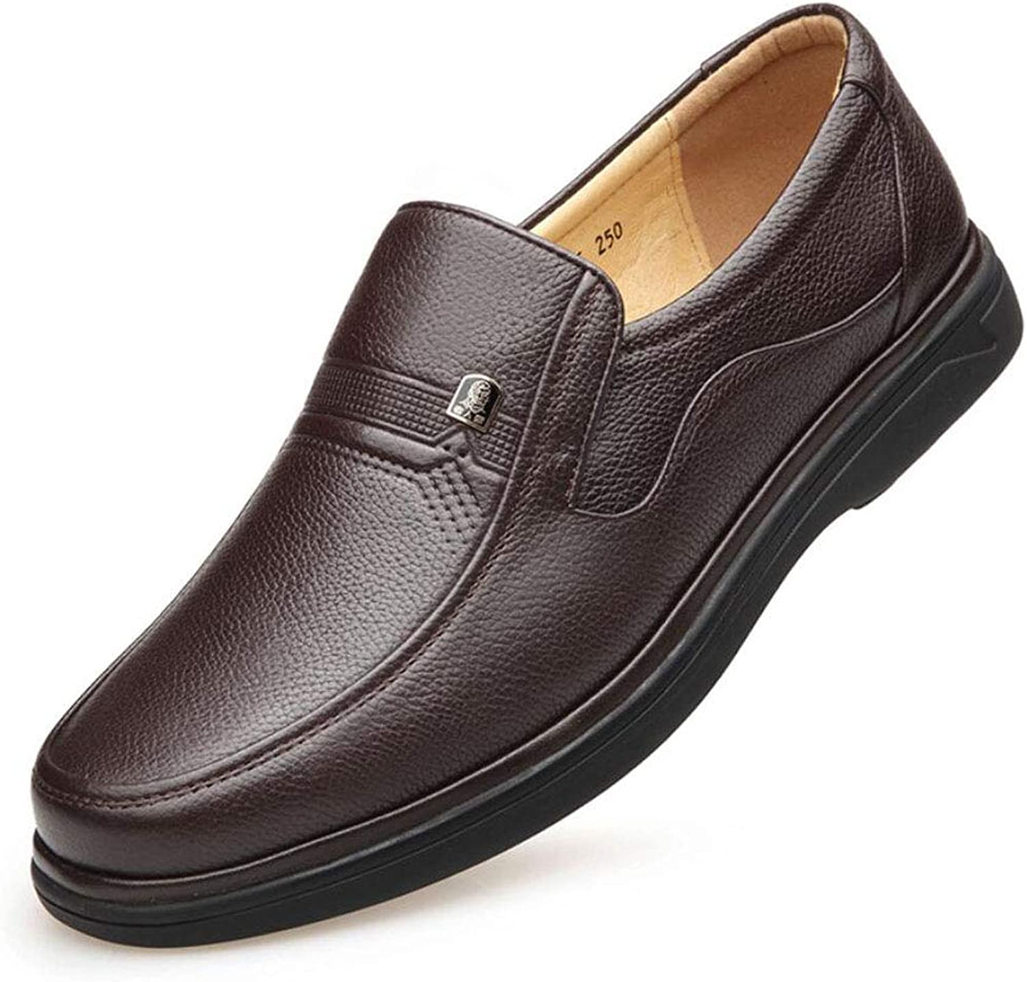 Men's Leather shoes Breathable Leather Oxford shoes Business Casual Men's shoes Brown Dress shoes