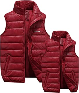 ARTFFEL-Men Winter Thicken Lightweight Down Puffer Vest Quilted Waistcoat Jacket