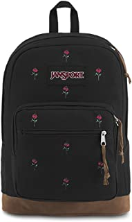 jansport backpack black with roses