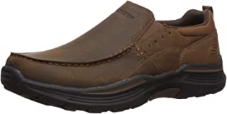 Skechers Men's Expended-Sevenoleather Leather Slip on Moccasin