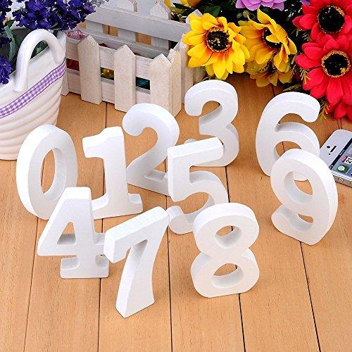 10Pcs Holz Nummer Zahlen 0-9 DIY Malen Dekorationen für Hochzeit Geburtstag Feier Deko