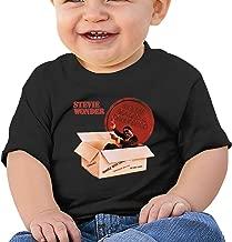 CHoe0SDQM Stevie Wonder Infant T-Shirts 100% Cotton Music Graphic Fashion Tee