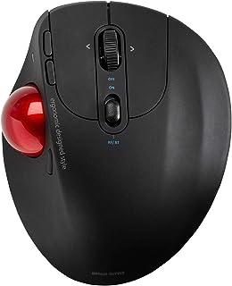 SANWA Dual Mode (Bluetooth 5.0 + 2.4G Wireless) Ergonomic Trackball Mouse, Optical Mice, Programmable Buttons, Adjustable ...