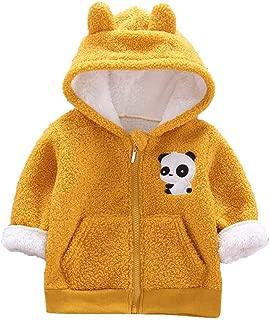 MONIVEVE Boys Coat Toddler Kid Baby Boy Cartoon Panda Hooded Coat Jacket Outwear Warm Hooded Zipper Jacket Outfits