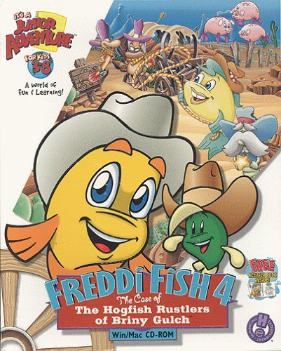 Freddi Fish 4: The Case of the Hogfish Rustlers of Briny Gulch - PC/Mac by Humongous Entertainment