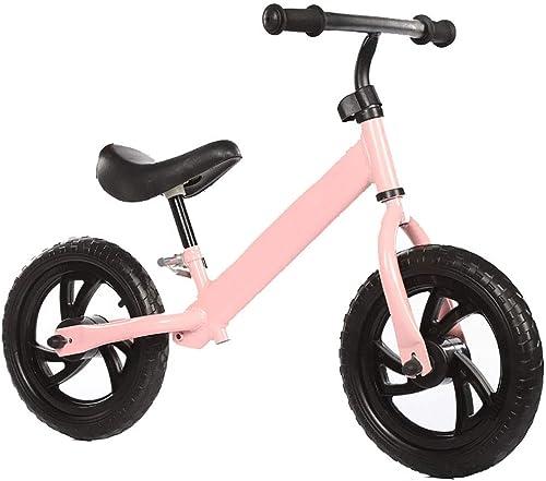 Vélo d'équilibre pour Enfants,Vélo pour Enfants Scooter Pied vélo Gratuit-Rose 34.6pouce