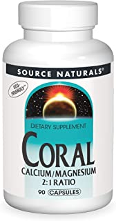 Source Naturals Coral Calcium with Magnesium Capsules, 90 Capsules