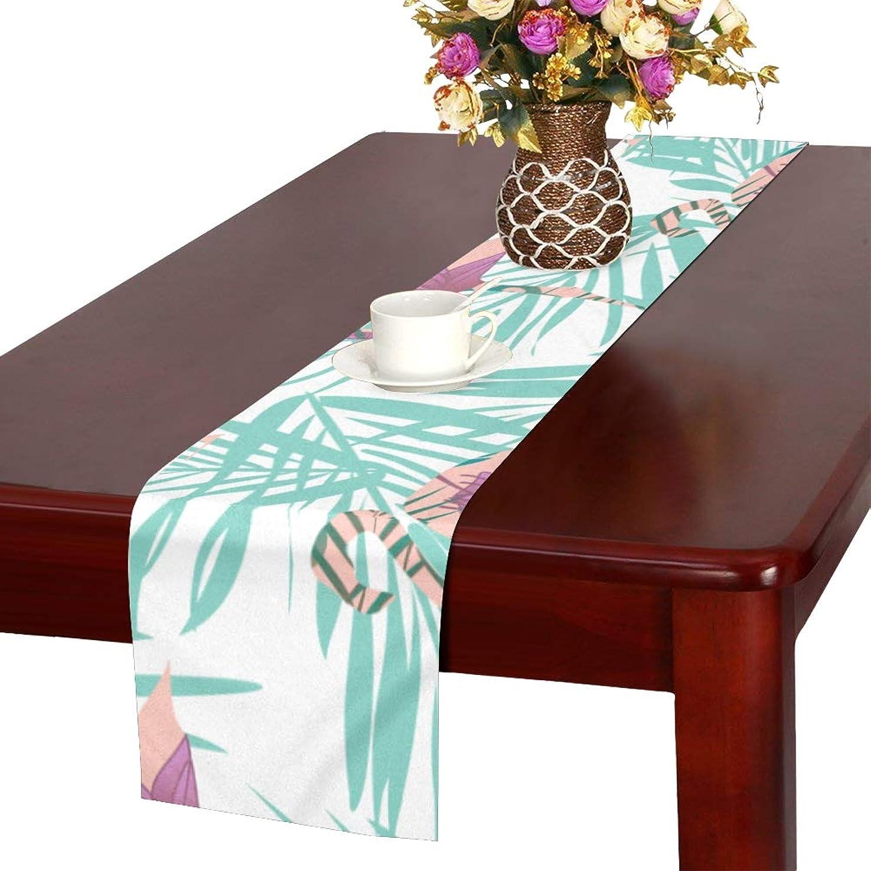 競うクール出席するGGSXD テーブルランナー 美しいフラミンゴ クロス 食卓カバー 麻綿製 欧米 おしゃれ 16 Inch X 72 Inch (40cm X 182cm) キッチン ダイニング ホーム デコレーション モダン リビング 洗える