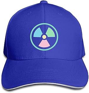 SeeSeasan Pastels Radioactive Sign Custom Sandwich Peaked Cap Unisex Baseball Hat
