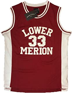 AIFFEE Men's Basketball Number 33 Bryant Basketball Jersey Red Stitched S-3XL