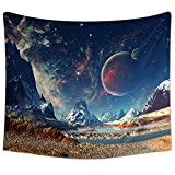 Sunm Boutique Tapestry Wall Hanging Wall Tapestry Galaxy Tapestry Planet Tapestry Psychedelic Tapestry Vintage Tapestry Home Decor(51.2'x59.1', Galaxy#2)