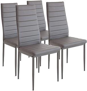 Albatros 2553 MILANO Set de 4 sillas de comedor gris
