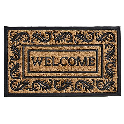 "Home & More 280021830 Border Welcome 18"" X 30"" Coir and Rubber Doormat"