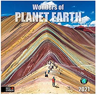 """Wonders of Planet Earth - 2021 Wall Calendars by Red Ember Press - 12"""" x 24"""" When Open - Thick & Sturdy Paper - Absolutely..."""