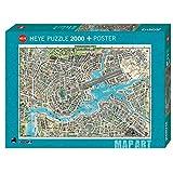 Heye 29844 City of Pop Standart 2000 Teile, Map Art, inkl. Poster, Grey
