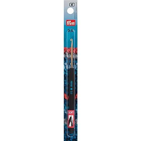 Prym Crochet à Laine en Aluminium - avec poignée Douce - Couleur Argent - Longueur 14cm - Épaisseur 3mm