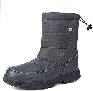 gracosy Bottes de Neige Hommes Femmes, Bottines Après Ski Imperméable Fourrure Chaude Chaussures de Pluie Randonnée Hiver ...
