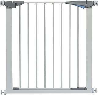LEMKA ペットゲート オートクローズ機能付き 突っ張り式 安全開閉式フェンス 前後90度双方向開閉 家庭用 ベビーゲート 階段ガードレール 隔離ドア ホワイト(74 x 5 x 78 cm, ホワイト)