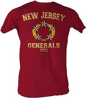 A&E Designs USFL T-Shirt New Jersey Generals Red Heather Tee