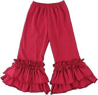 Wennikids Infant/Toddler Girls Stretchy Flare Pants w/Ruffles 1-6T
