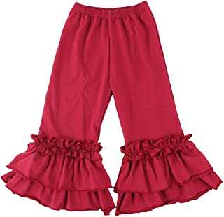 burgundy ruffle pants
