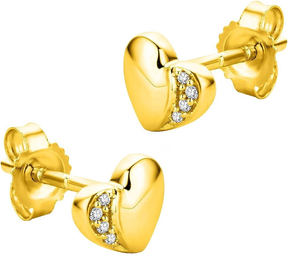 Orovi orecchini da donna in oro 9 kt / 375 (1 gr) con diamanti taglio brillante OR8923E
