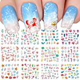 12 Sheet Nail Art Stickers Marine Life Fish Water Transfer Nail Decals Stickers Ocean Dolphin Starfish,etc,Nail Art Stickers Supplies Popular Nail Stickers for Women Fashion Design Accessories for Girl