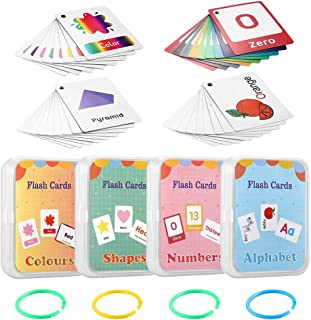 Ettzlo Alphabet Flash Cards Baby Soft Alphabet Cards Toys 4 Set Alphabet Flash Cards Early Learning Toy with Storage Bag Washable Soft letter Toy for Toddlers Kids Boys Girls Over 0 Years