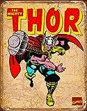 Poster Thor, Staffel Retro Blechschild Blech, 16 x 13 cm