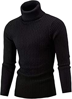 Cameinic Men's Casual Slim Fit Turtleneck Pullover...